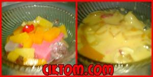 puding buah sos kastad