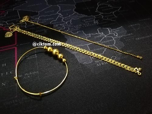 koleksi rantai tangan emas adira